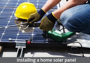 installing a home solar panel