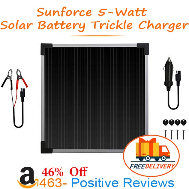 Sunforce Solar Battery Trickle Charger