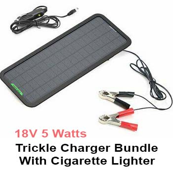 ALLPOWERS 18V 5 Watts Portable Solar Panel Solar Car Battery Charger