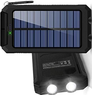 BESWILL 10000MAH Solar Phone Charger Waterproof Portable External Battery Pack
