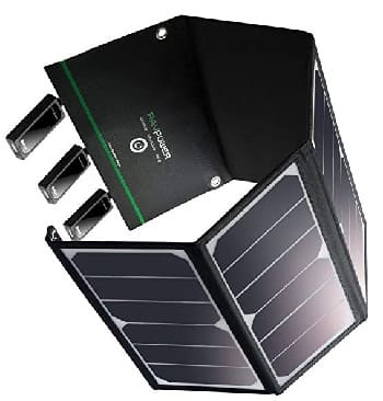 RAVPower Solar Charger 16W Solar Panel with Dual USB